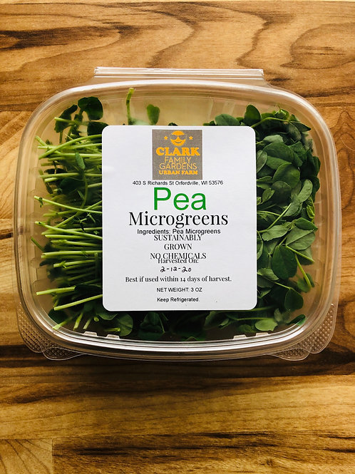 3oz Pea Microgreens