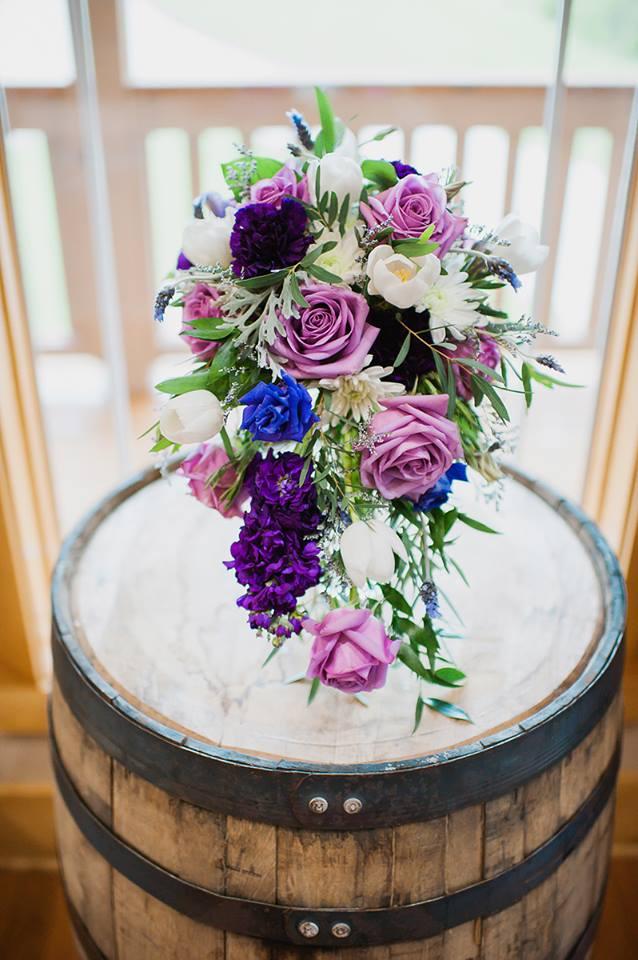 Cascading Purple Bouquet
