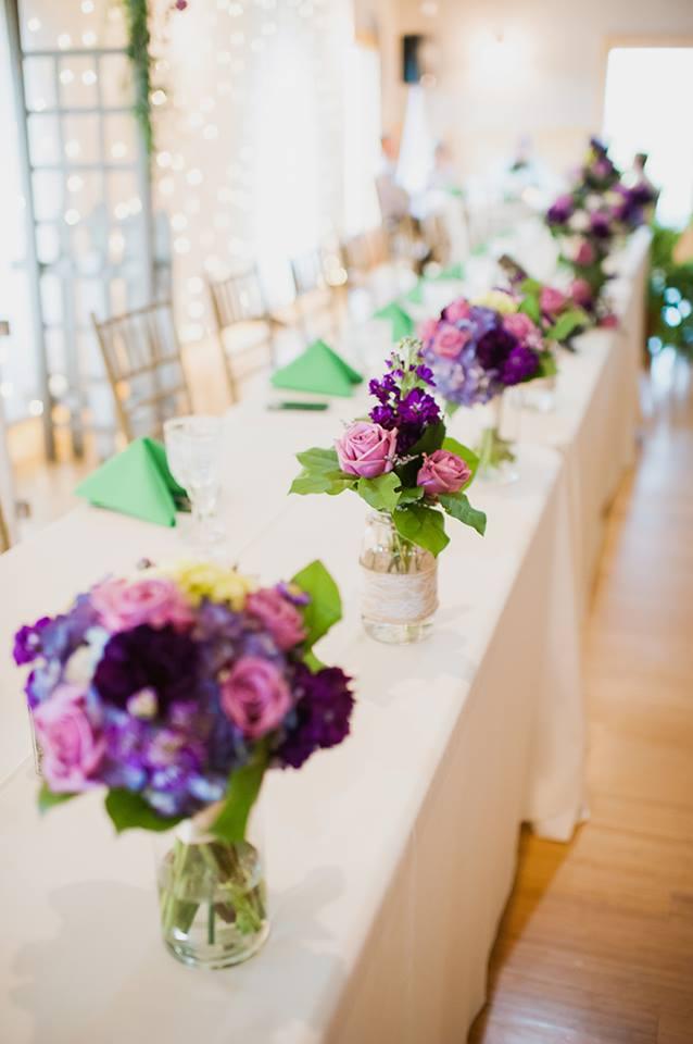 Purple mason jars