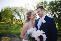 Burgundy and blush barn wedding