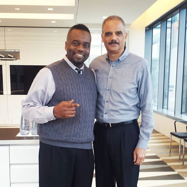 Video shoot with Eric Holder