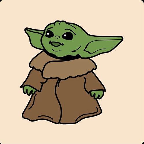 Baby Yoda cocoa bomb