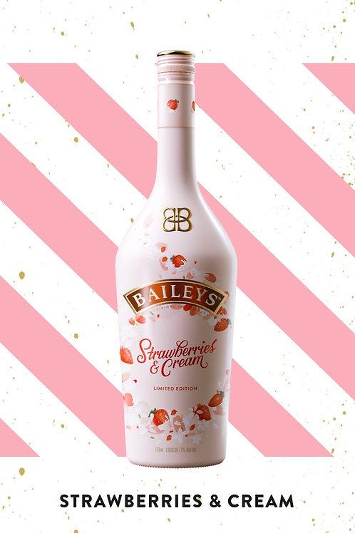 Boozy Strawberry and creams cocoa bombs