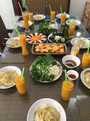 Excellent repas à la villa / Delicious meal at the villa