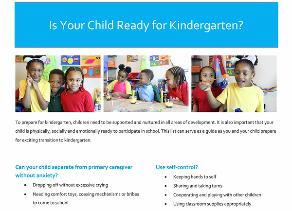 Sophia Learning Center Kindergarten Read