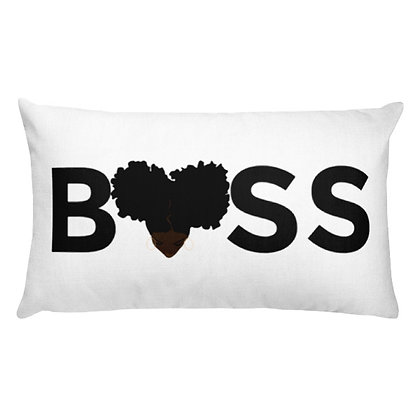 Dark Skin Boss Premium Pillow