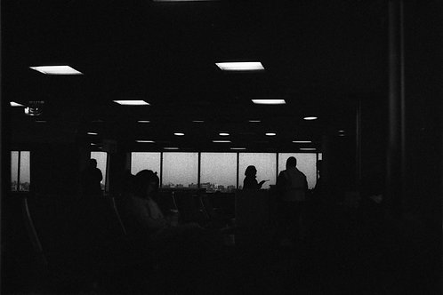 SILHOUETTE AT AIRPORT