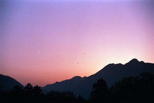 SUNSET IN MT. FUJI