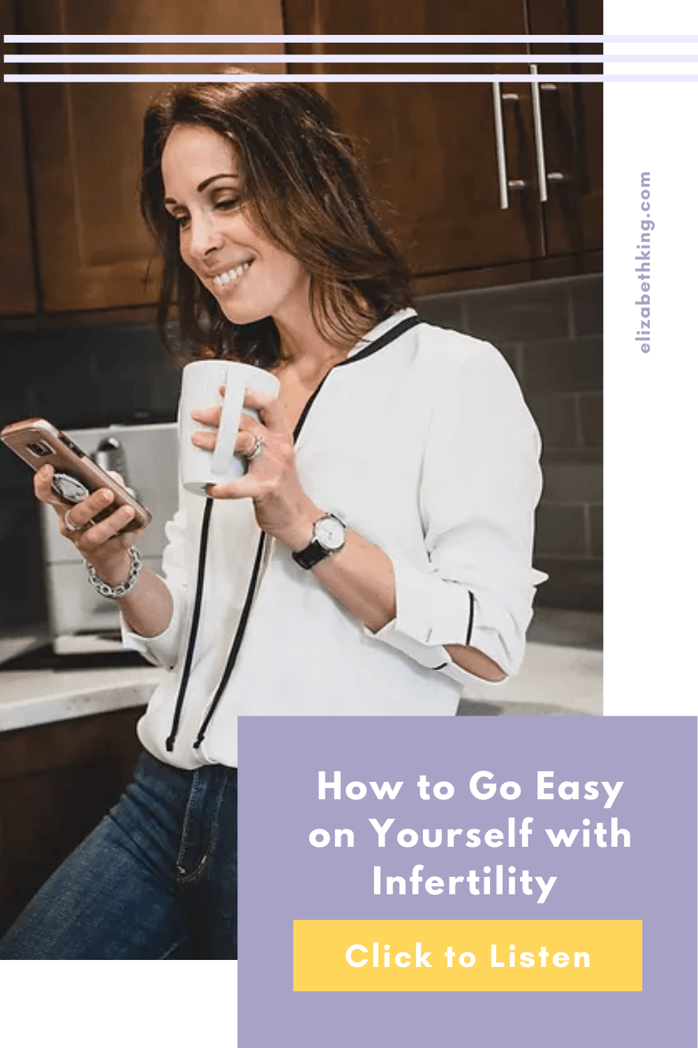 Learn how Tara Clark from @modernmomprobs learned how to go easy on herself while experiencing infertility.