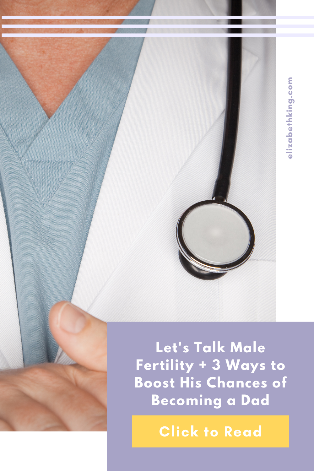 Let's Talk Male Fertility + 3 Ways to Boost His Chances of Becoming a Dad | ElizabethKing.com