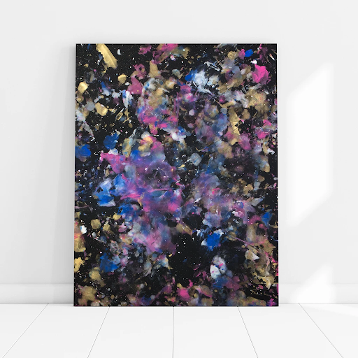 cosmos painting love is art painting intimate painting anniversary gift