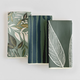 nature patterned fabric dinner napkins as a Thanksgiving gift
