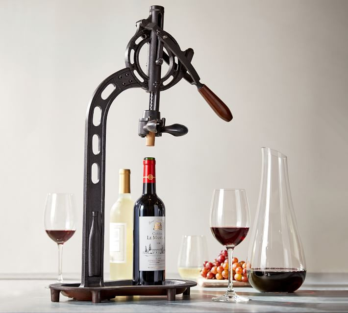 Vintage-Wine-Opener-Steel-Bronze-Tabletop