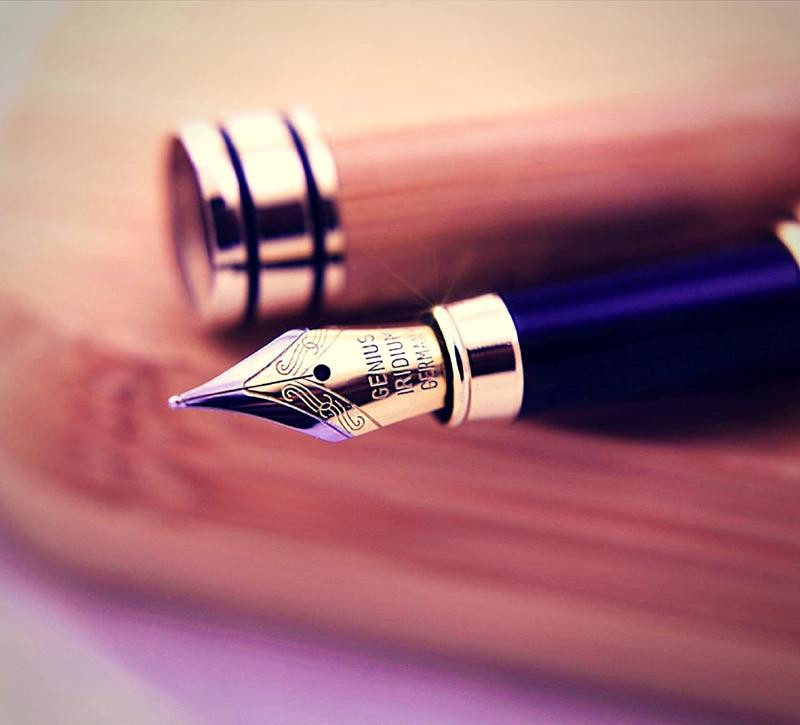 classic fountain pen with gold and silver nub