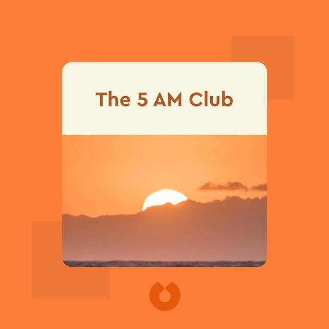 picture of sunrise that says 5am club