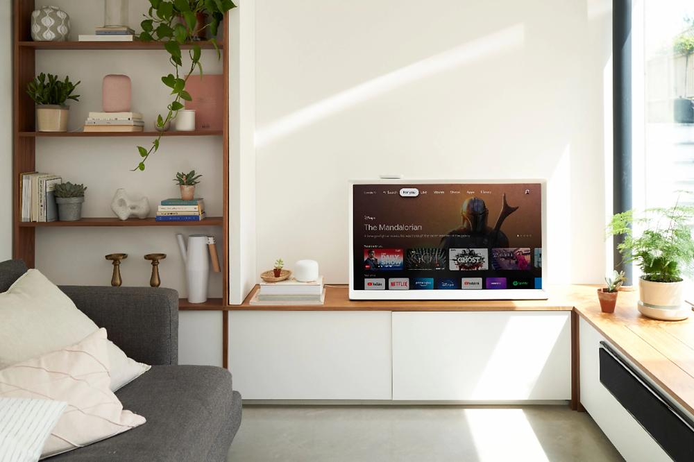 sunny room with chromecast tv