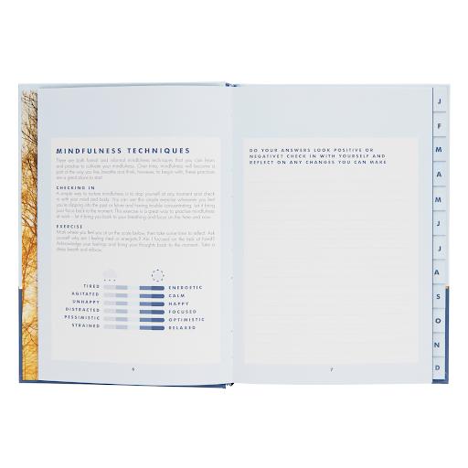 open light blue journal mindfulness journal