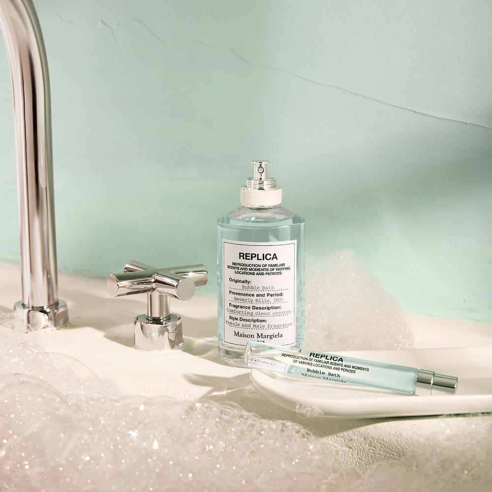 Replica bubble bath perfume blue bottle and bubble bath valentine's day gift