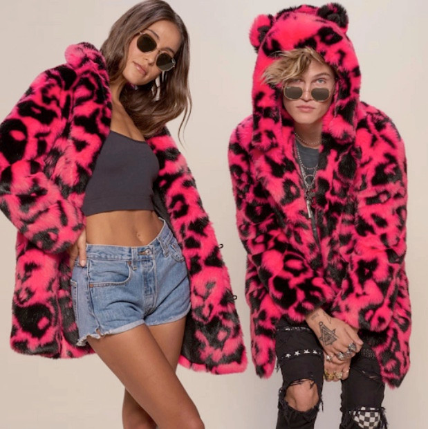 Neon-Leopard-Sexy-Fun-Faux-Fur-Coat