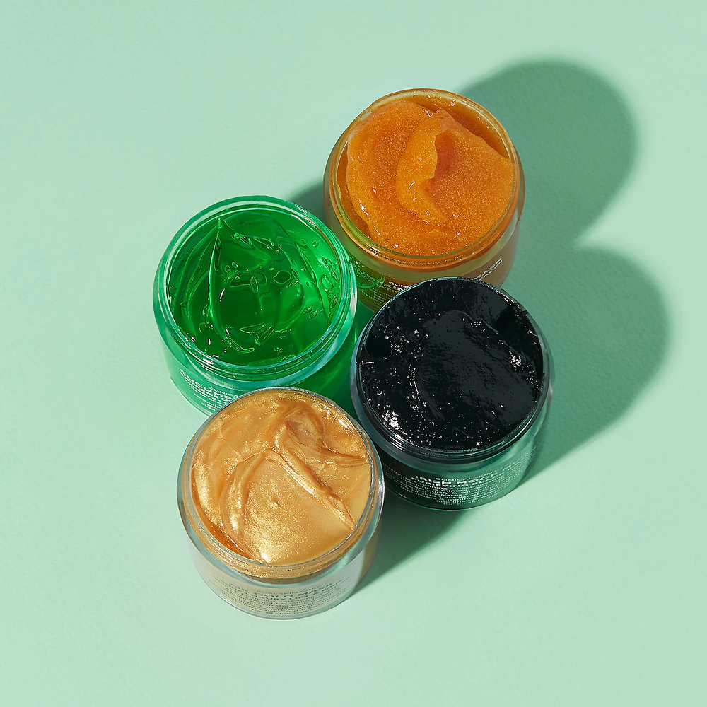 four peter thomas roth masks in different colors