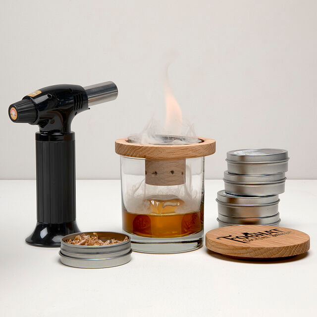 glass cocktail smoker for dad or any man in your life