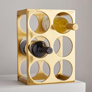 gold wine rack best friend gift