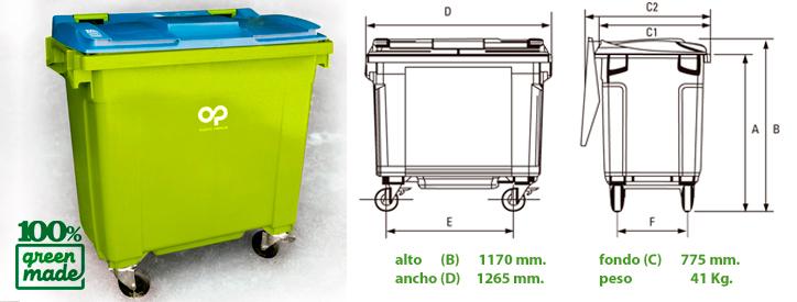 ficha 800 ltrs green made