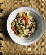 Mahi Mahi nikkei ceviche over rice