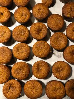 Vegan home made banana muffins