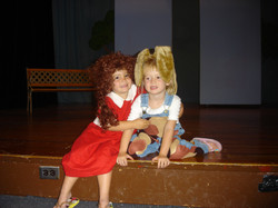 Emma and Abbey in Annie