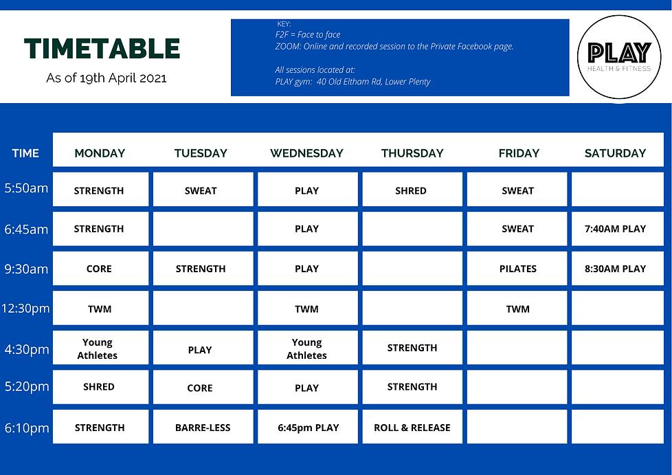 Copy of Copy of Blue Simple Class Schedu