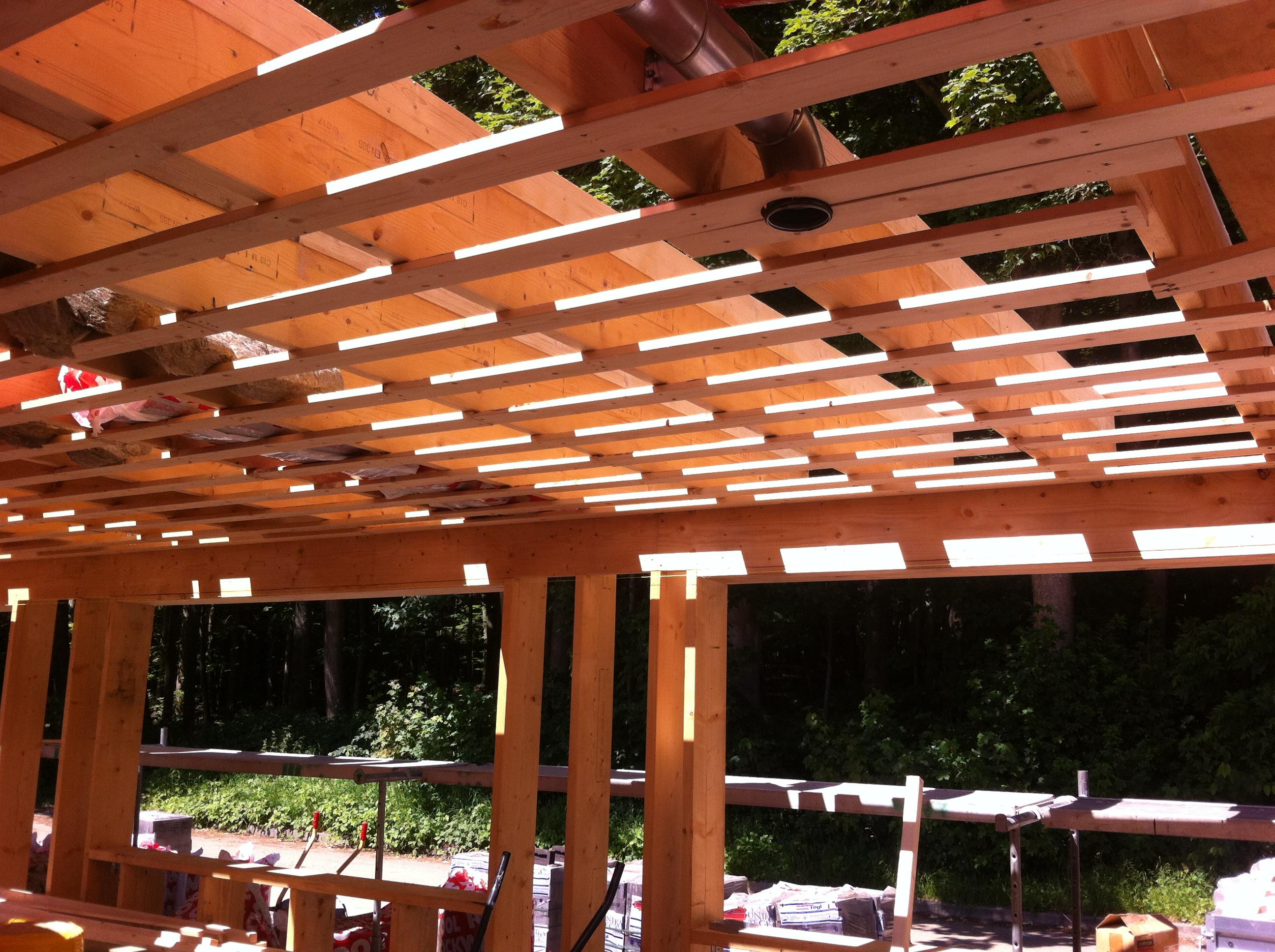 Tilbygning 60'er hus - træskelet