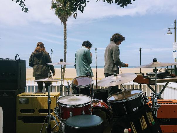 Drum set view on Venice beach