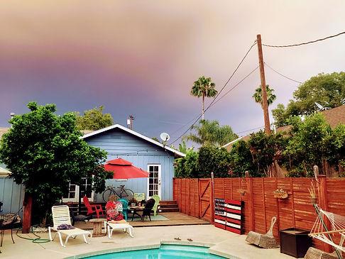 sky during LA fires