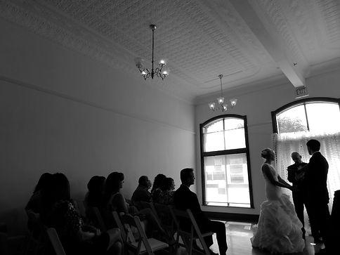 wedding in am 1800s opera house