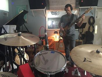drums in the studio