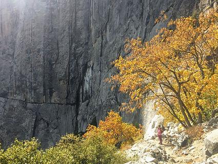 woman hiking in Yosemite