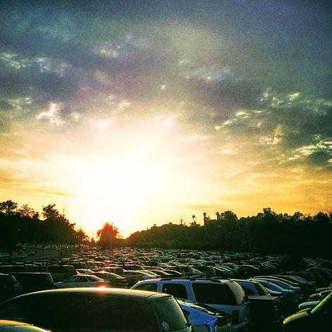 Parking lot at Dodger Stadium