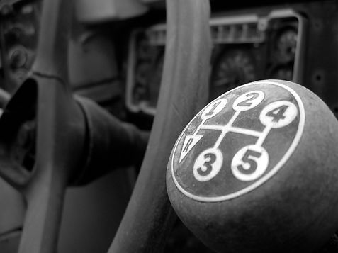 gear shift in old bus