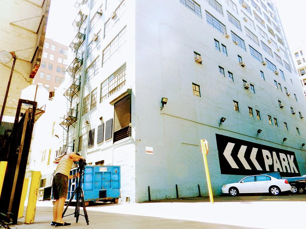 Nondescript building in downtown LA