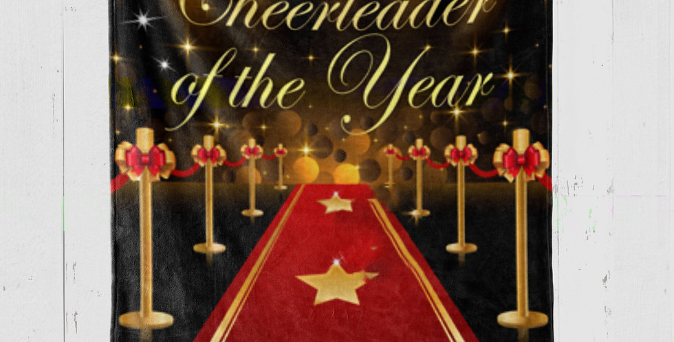 'CHEERLEADER OF THE YEAR' BLANKET
