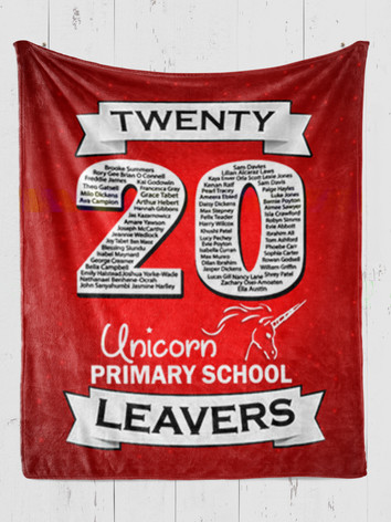Double Down Leavers Blankets Red