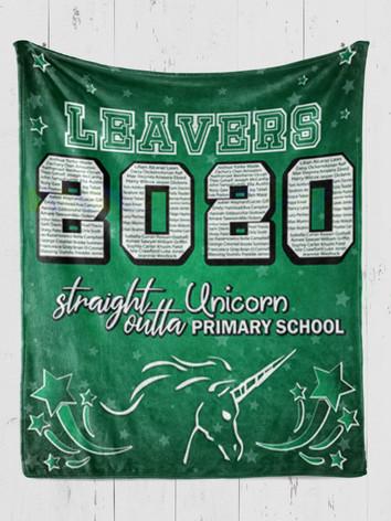 Double Down School Leavers Graduation Blanket
