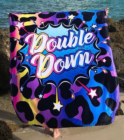 Double Down Coral Fleece Minky Plush Bla