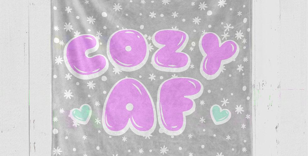 COZY 'AF' PLUSH MINKY BLANKET
