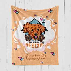 Little China Dog Rescue Double Down Blanket