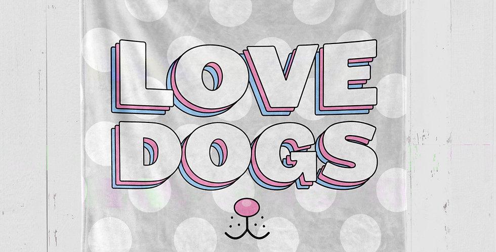 'LOVE DOGS' PLUSH MINKY BLANKET
