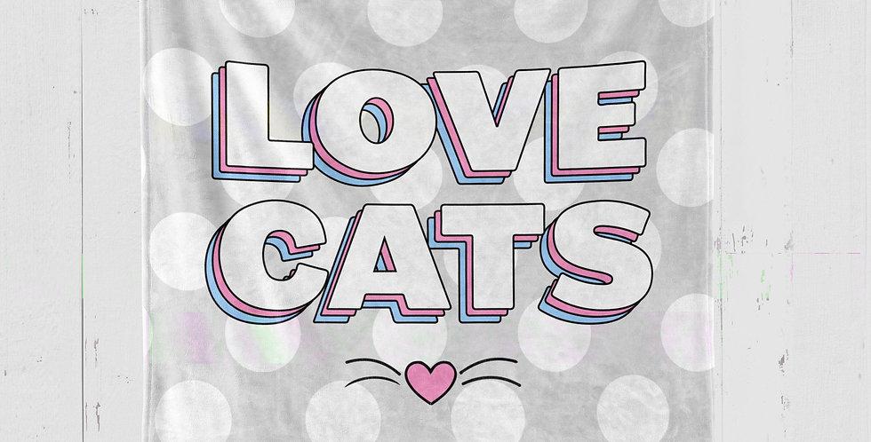 'LOVE CATS' PLUSH MINKY BLANKET