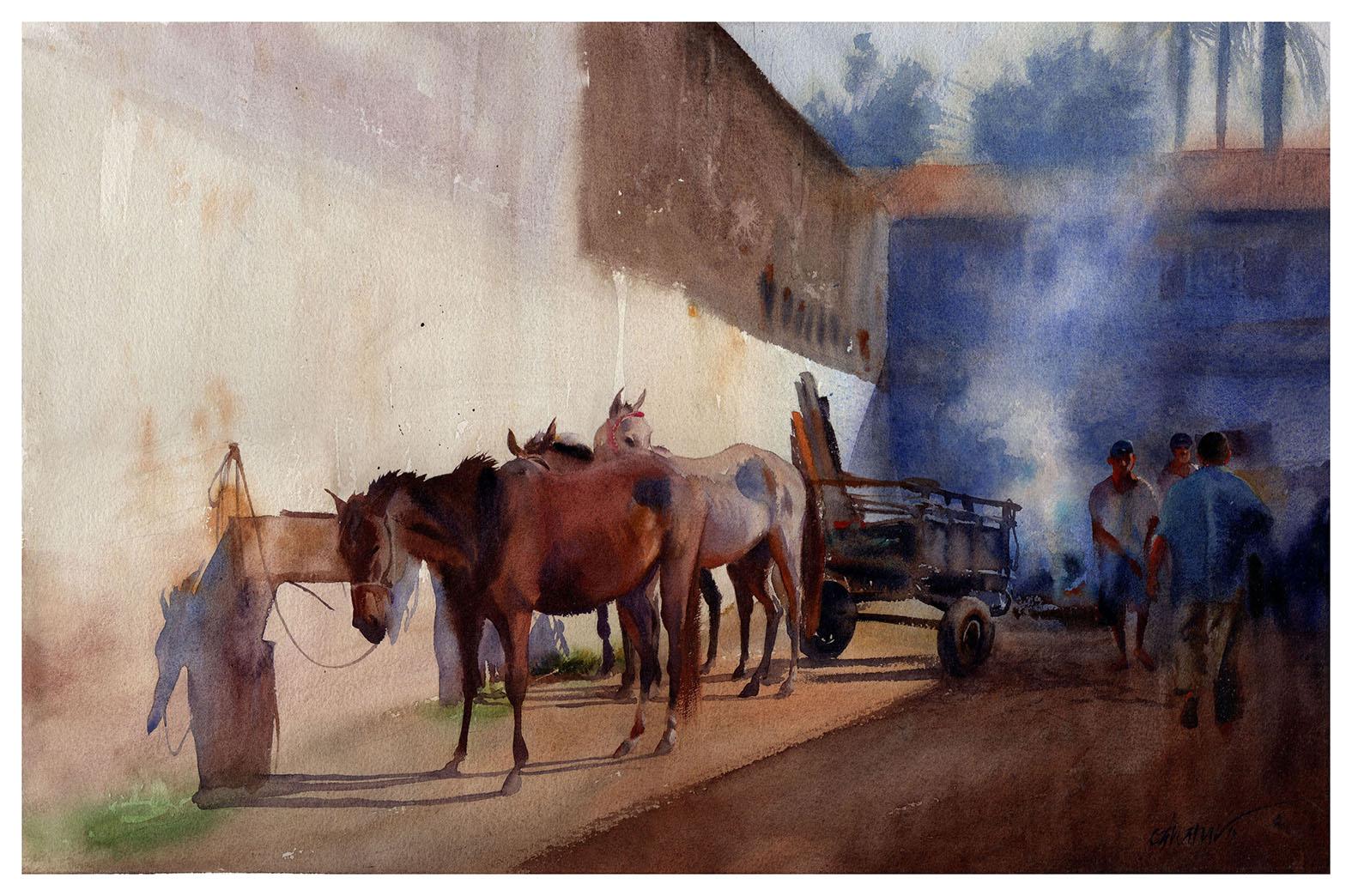 Cavalos e fogueira / Paraty