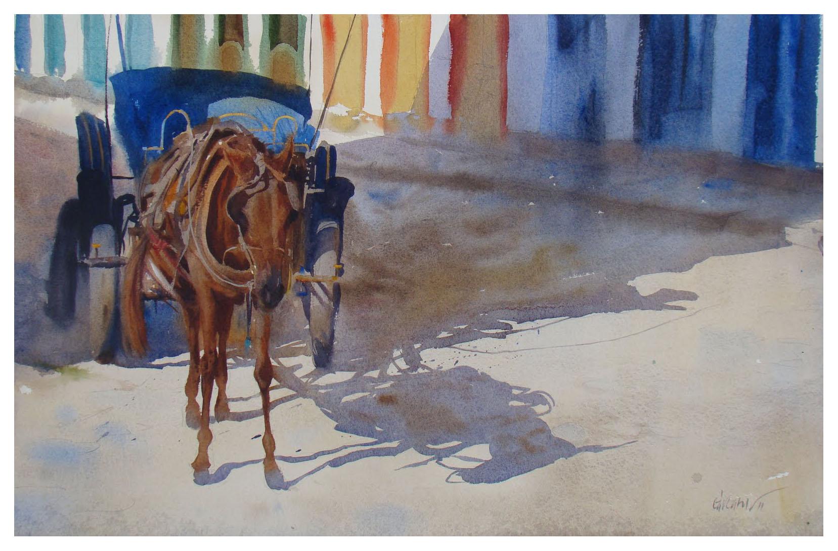 Sombra da carroça